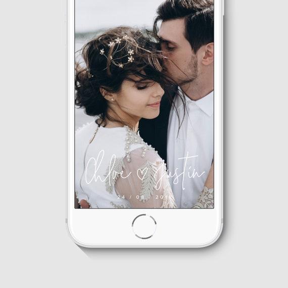 Wedding Snapchat Filter Template Custom Geofilter For Etsy