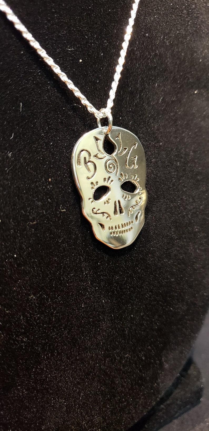 Sugar Skull Personalized Pendant