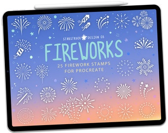 Fireworks Rubber Stamp 4th of July Guy Fawkes Diwali