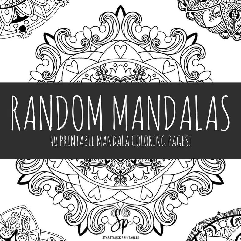 Printable adult coloring book, mandala coloring pages, PDF E-Book, Coloring  Pages