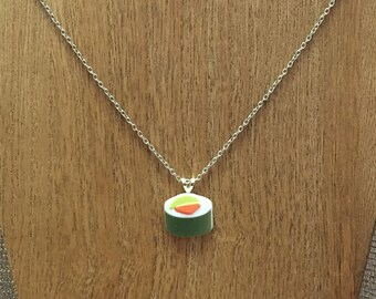 Plastic California Roll Sushi Necklace