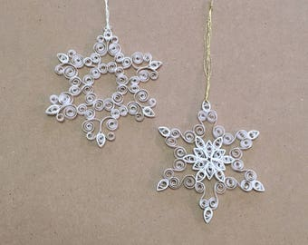 Snowflake Ornament (white quilled paper)