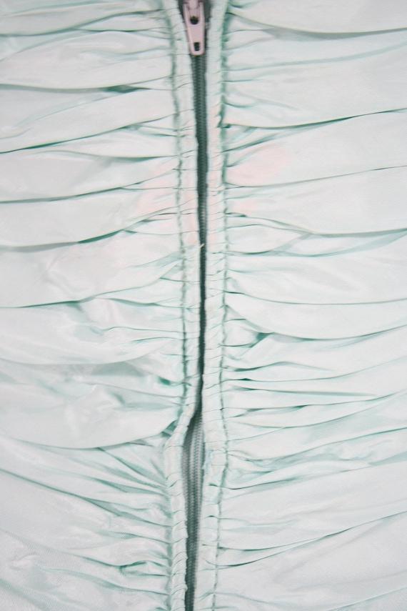 1980s Aqua Ruffled Evening Dress by Lillie Rubin,… - image 10