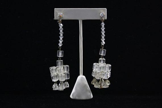 1930s Crystal Chandelier Earrings | 30s Vintage S… - image 3