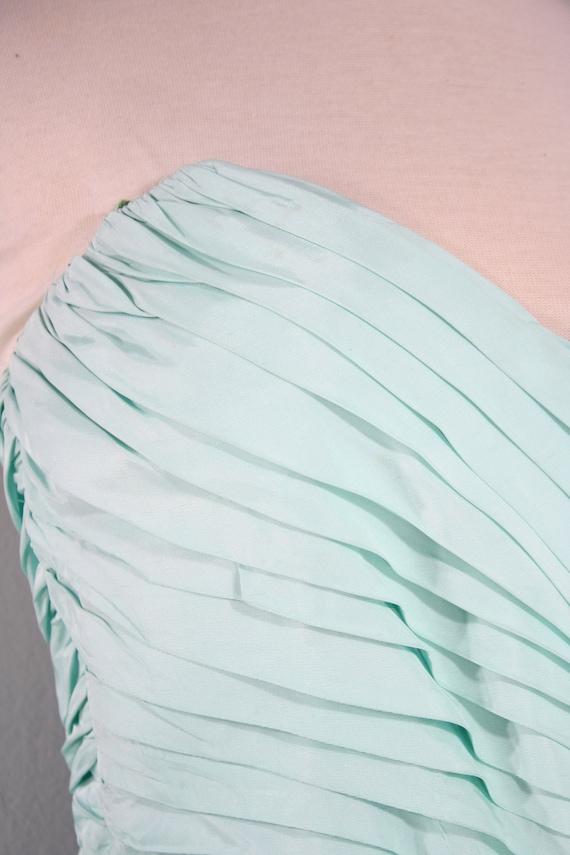 1980s Aqua Ruffled Evening Dress by Lillie Rubin,… - image 5