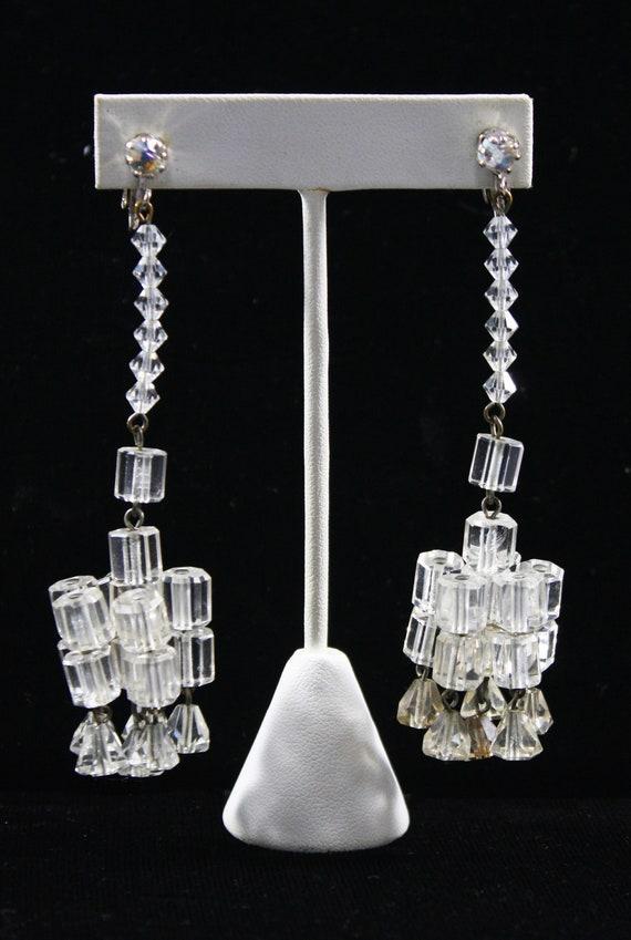 1930s Crystal Chandelier Earrings | 30s Vintage S… - image 4