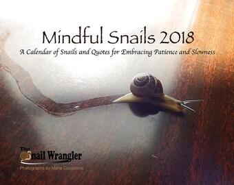 Mindful Snails 2018 Wall Calendar