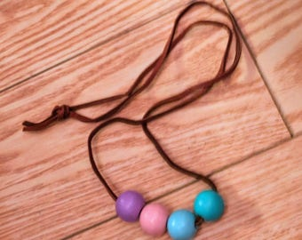 Choose Your Adventure Wooden Bead Necklace