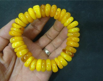 tibet mila bracelet mala prayer bead amber resin necklace antique baltic s