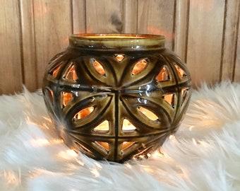 Ceramic Candle Holder, Ceramic luminary, Ceramic Candleholder, Boho Decor, Southwest Style, Southwest Decor, Candleholder