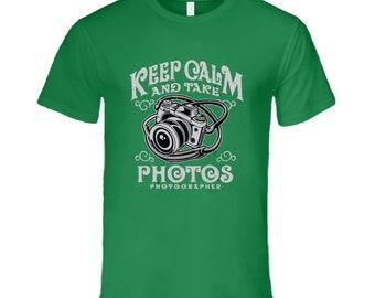 Keep Calm And Take Photos T Shirt
