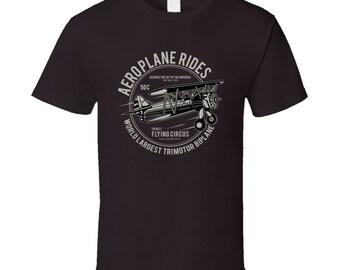 Aeroplan Rides Biplane T Shirt