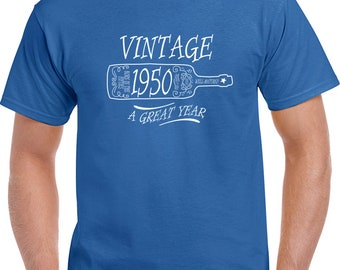 Vintage 1950 A Great Year T Shirt