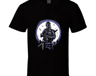 Gas Mask Soldier T Shirt
