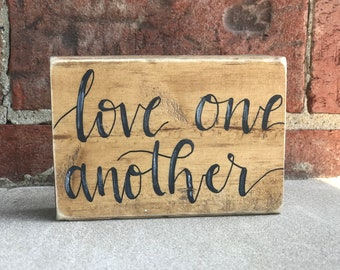 Love one another- block