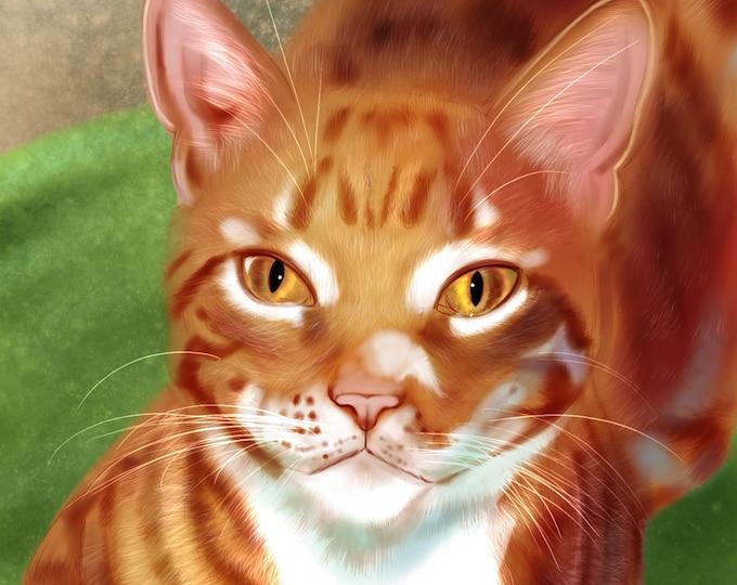 Featured listing image: Commission Digital Pet Portrait Artwork
