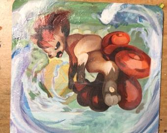 Custom Painted Vulpix Pokemon TCG Card - GOUACHE