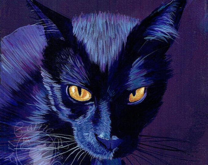 Featured listing image: Black Cat Print