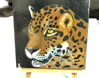 "Leopard Painting 4""x4"""