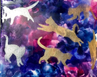 Original Cat Abstract Painting