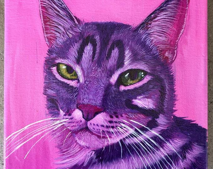 Featured listing image: Original Cat Painting