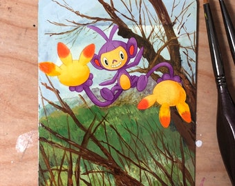 Custom Painted Ambipom Pokemon TCG Card