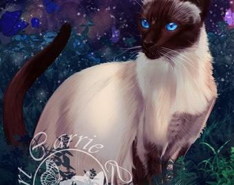 Siamese Cat Print
