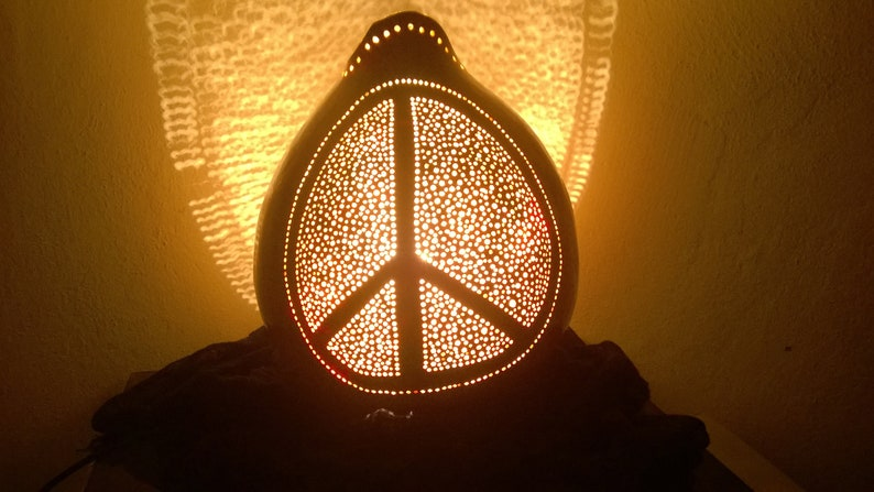 Peace /& Love Lamp Shade Modern Lamps Creative Gifts Unique Living Room Decor Lamps for Night Stands