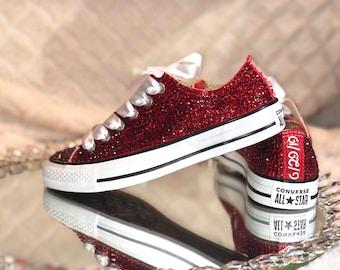 Red glitter converse  fd9ee1793