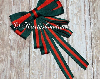 9a3d0401c2a Bow Brooch Tie - Red and Green - Designer Inspired - Christmas Gift -  Trendy - Women s fashion - Black Friday Sale - Cyber Monday Sale