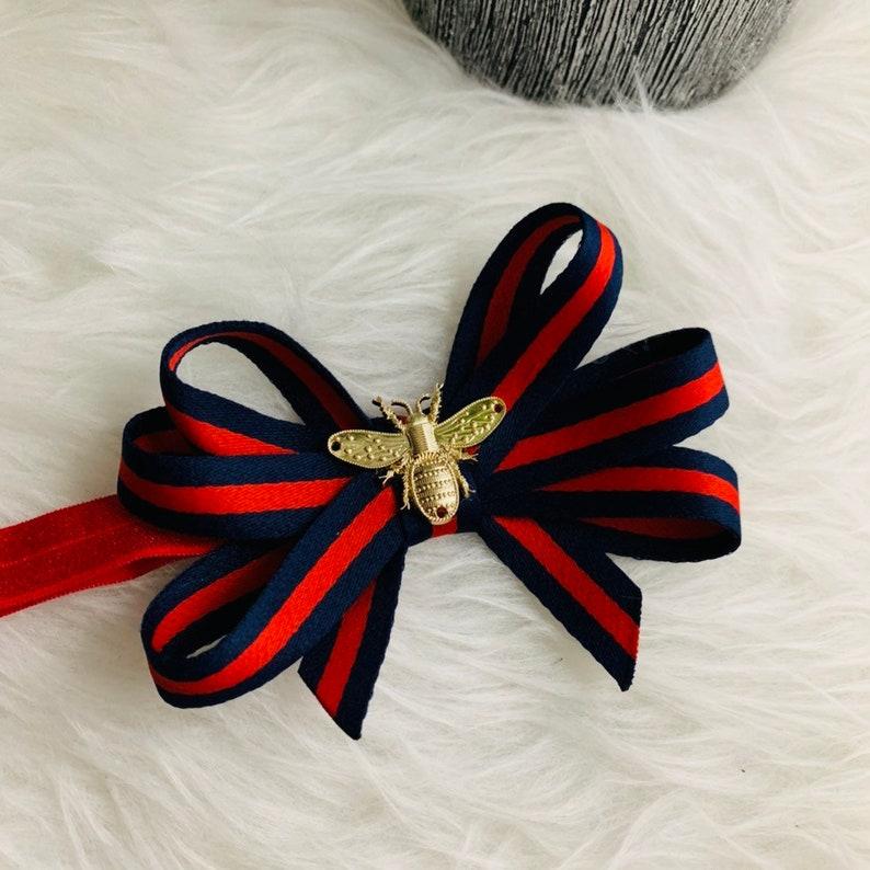 Birthday -Gifts BEST SELLER -Designer Inspired Bees Black and Red PhotoShoot Headband First Birthday Girls