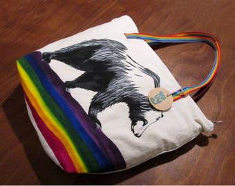 Handpainted Tote Bear LGBT Handbag