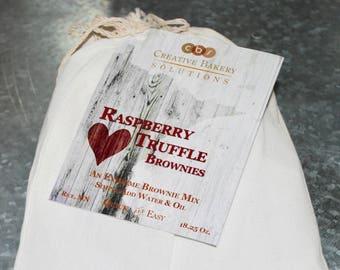 Brownies, Brownie Mix, Fudgie Brownie, Brownie Recipe, Chocolate, Raspberry Truffle Brownie,  Birthday Gift, Christmas Gift