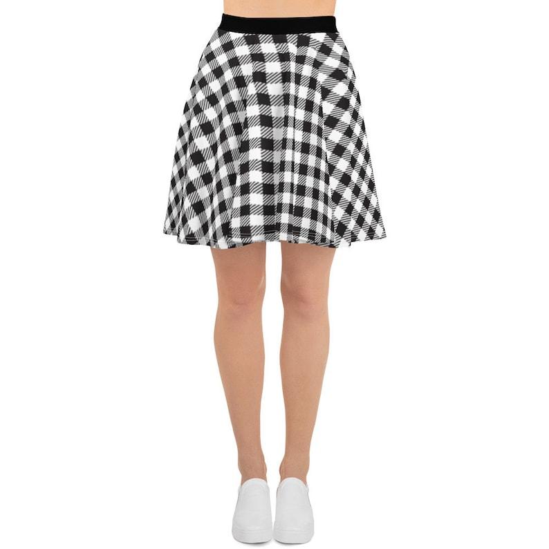 Gingham Skater Skirt