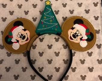 dc6a1181873b7 Christmas Santa Mickey Minnie Mouse Ears Disney inspired