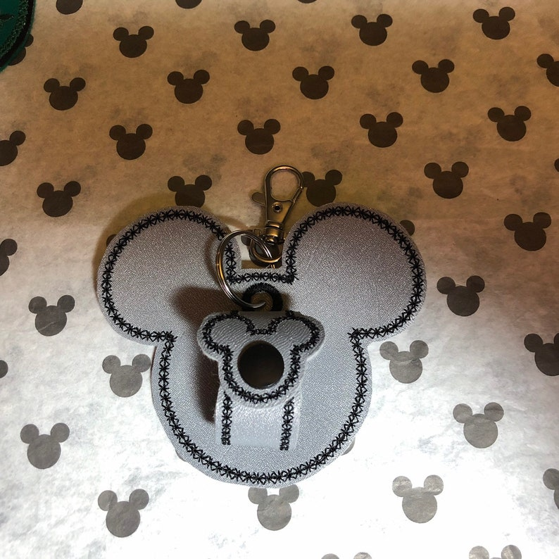 Cruise ship DCL Mickey head Minnie Mouse disney inspired ear holder or carrier for lanyard belt. bag
