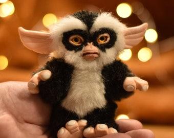 Gremlin George, Gizmo, magwai ,monsters kawaii plush ooak handmade gift Art Doll disney art black friday