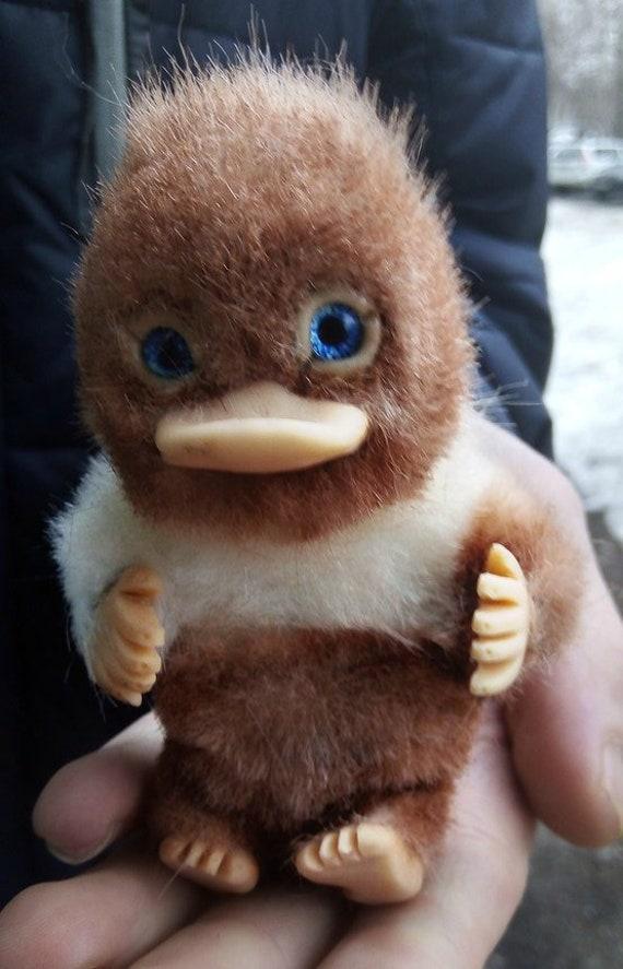 Toys & Games Tiny Niffler ooak handmade gift furry animal kawaii plush poseable doll Toys