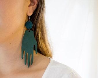 Forest Earrings in Deep Green