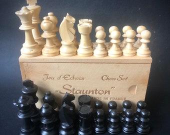 French Staunton Jeu d'Echecs Chess Set