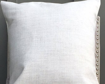Cream Thick Tweed, Home Decor, Modern, Decorative Throw, Pillow Cover, Toss Pillow, Cushion Cover (Feat. 20 x 20 in) Best Seller!