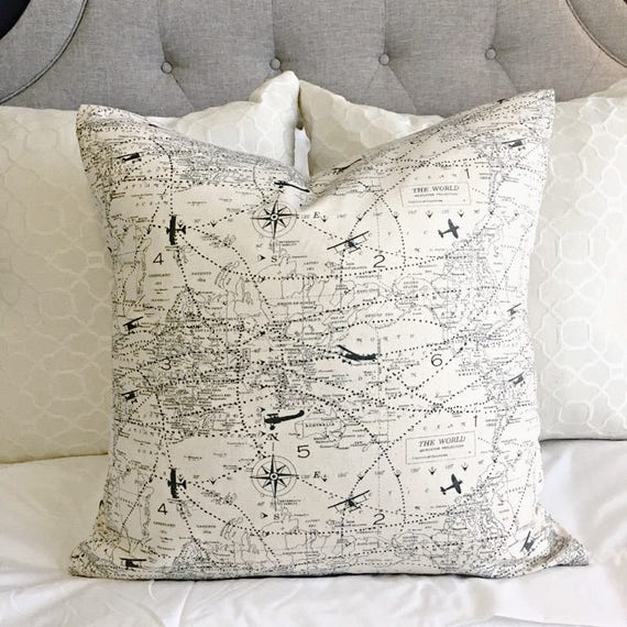 Pleasant Aviation Map Plane Pillow Cover Home Decor House Pillow Cover Chair Pillow T Idea Bed Pillow Manly Pillow Apartment Decor Best Seller Inzonedesignstudio Interior Chair Design Inzonedesignstudiocom