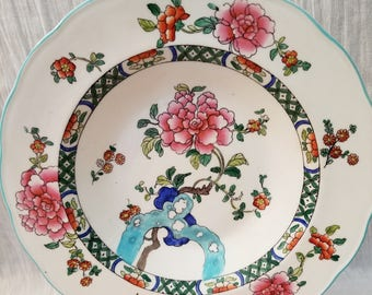 George Jones & Sons Crescent Ware England Old Swansea Muffin Dish