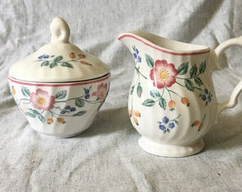 Churchill Briar Rose Creamer & Sugar Set