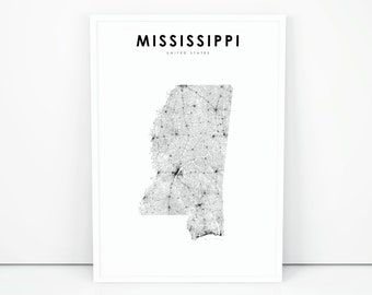 Usa Map Print Etsy - Print-us-map