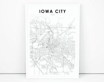Iowa On Usa Map.Iowa Map Etsy