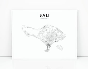 Bali Karte Canggu.Bali Map Etsy