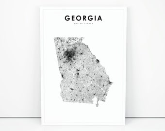 photo relating to Printable Maps of Georgia called Ga map Etsy
