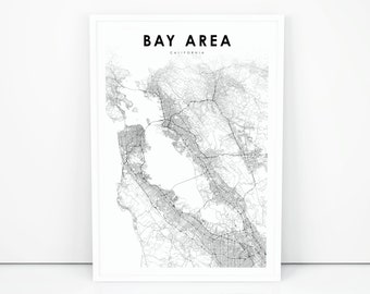 Bay Area Map Etsy Use this canada printable map to learn more. bay area map etsy