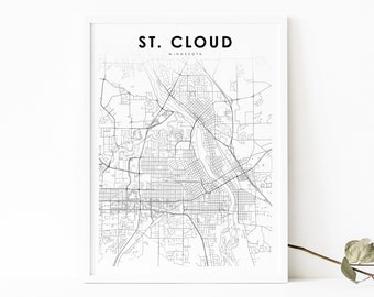 St Cloud Minnesota Canvas Print by Printed Marketplace